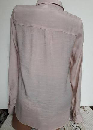 Рубашка- блуза  на заквязках нюдовая2 фото