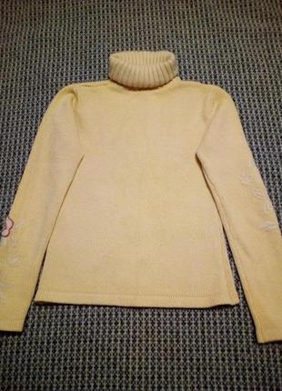 Теплый шерстяной свитер с принтом шерсть ангора3