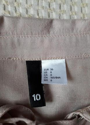 Рубашка- блуза  на заквязках нюдовая3 фото