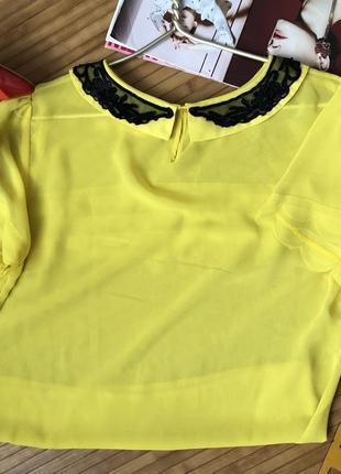 Шикарная шифоновая блуза с воротничком3