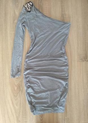 Вечернее коктейльное платье на одно плечо3