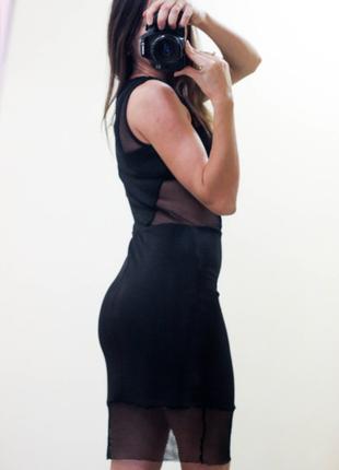 Черное платье с сеткой размер с3 фото