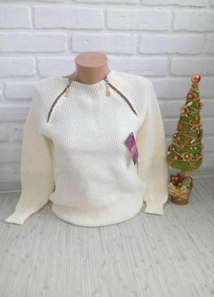 Вязаный стильный свитер#оригинальный свитер#молодежный свитер2