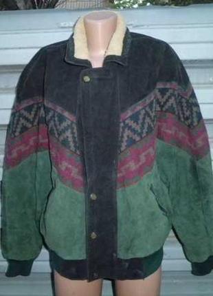 Куртка замшевая. очень тёплая не дорого 50-52