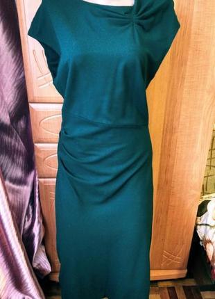 Платье изумруд трикотаж демисезон