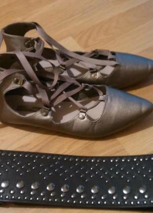 Туфельки бронзового цвета2