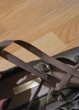 Туфельки бронзового цвета4