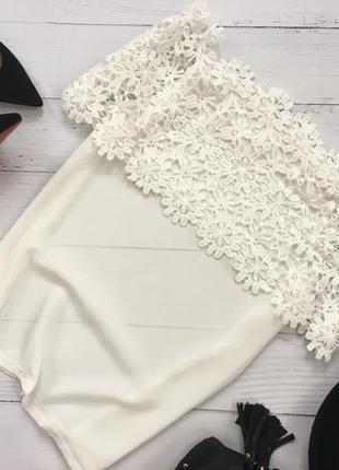 Шикарная блуза с ажурным верхом3