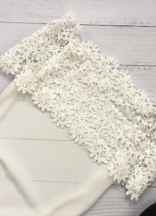 Шикарная блуза с ажурным верхом4