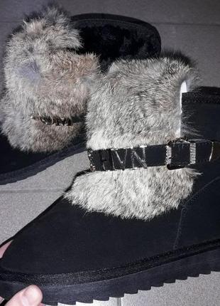 36-40 угги натуральная замша сапоги сапожки мех зима замша кожа угги жіночі теплі нат мех2 фото