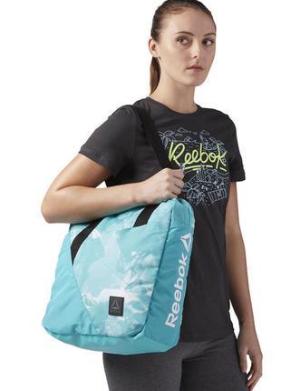 Женская сумка reebok, 23 л, бирюзовая2 фото