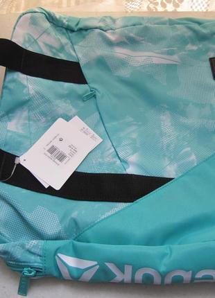Женская сумка reebok, 23 л, бирюзовая3 фото