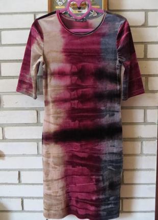 Платье вельровое 10 р-ра.2