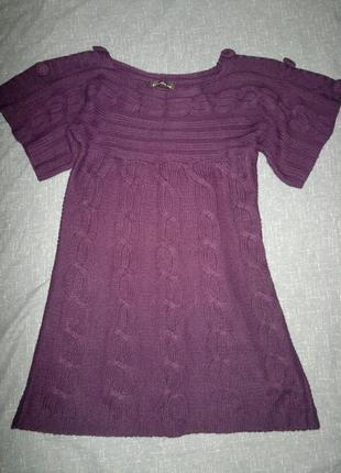 Вязаное платье, туника