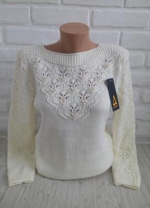 Нарядный вязаный свитер#молодежный свитер#2