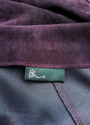 Красивая юбка под замш стильная и качественная юбка миди состояние новой4 фото