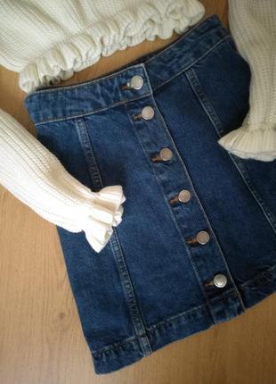 Джинсовая юбка на пуговицах от  topshop2 фото