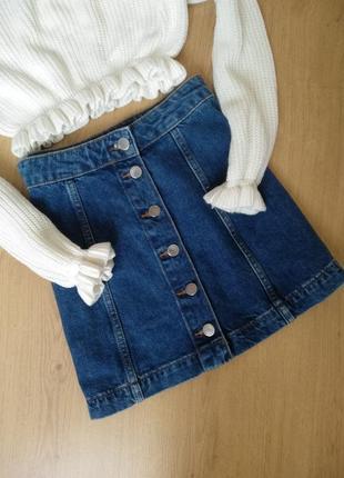 Джинсовая юбка на пуговицах от  topshop4 фото