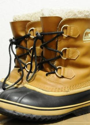 35/22 см, детские/женские зимние теплые ботинки sorel (канада) -40, сапоги чоботи дитячі2