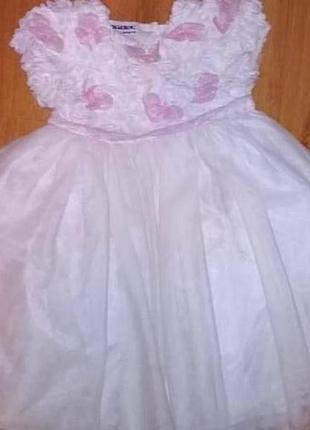 Платье blueberi для праздников утренников снежинка2
