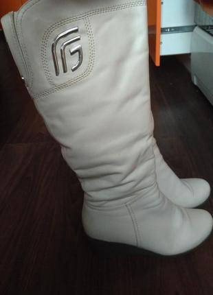 Кожаные зимние сапоги цигейка5