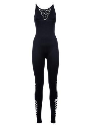 Эластичный комбинезон спортивный с вырезами, костюм для фитнеса йоги3