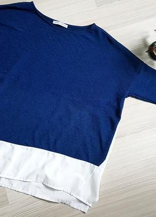 Блуза комбинированная zara1