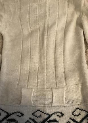 Вязанная туника с шарфом2 фото