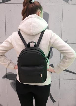Черный женский молодежный рюкзак1