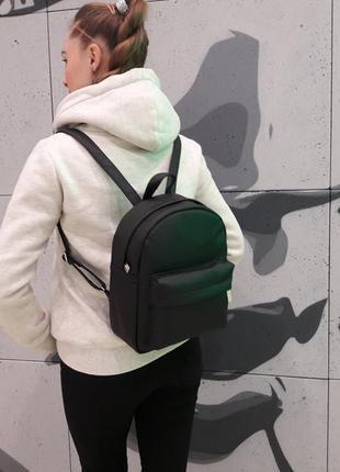 Черный женский молодежный рюкзак2