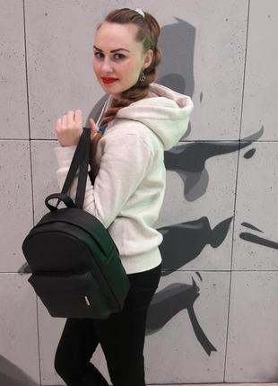 Черный женский молодежный рюкзак3