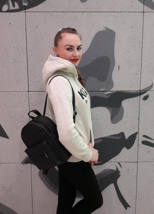 Черный женский молодежный рюкзак4