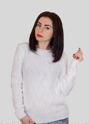 Нарядный вязаный свитер#молодежный свитер#