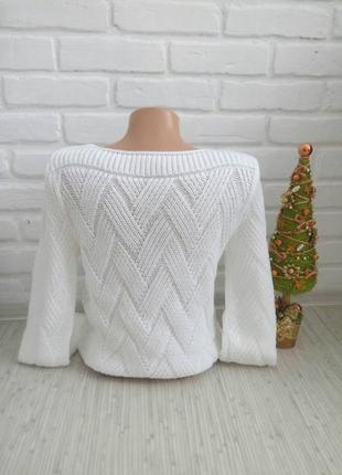 Нарядный вязаный свитер#молодежный свитер#3 фото