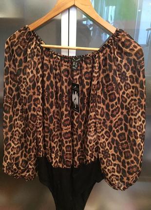 Блуза леопардовый принт2