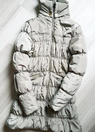 Пуховик резинка пальто зимнее подросток или худенькая девочка1