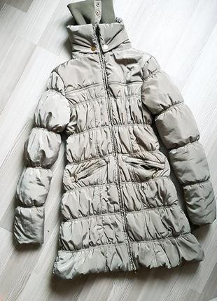 Пуховик резинка пальто зимнее подросток или худенькая девочка2