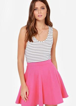 Яркая фактурная юбка ,солнце клеш xs/s pimkie1
