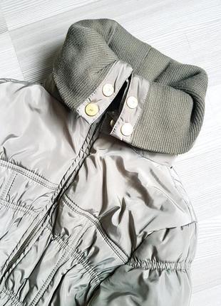 Пуховик резинка пальто зимнее подросток или худенькая девочка4