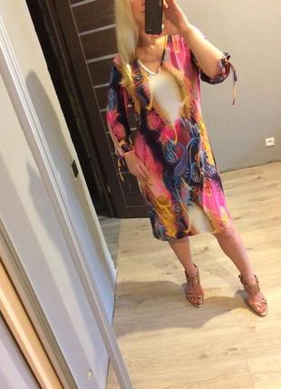 Розовое платье с обьемными рукавами на завязках3