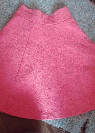 Яркая фактурная юбка ,солнце клеш xs/s pimkie2