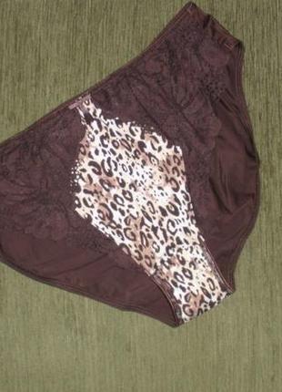 Красивые трусики слипы леопардовый принт кружево marks & spencer /англ 141