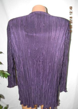 Нарядная новая блуза-кардиган с паетками большого размера5