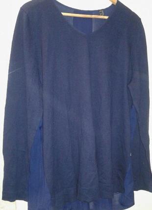 Нежная блуза с шифоновой спинкой от тсм tchibo (чибо), германия, размер украинский 54-564