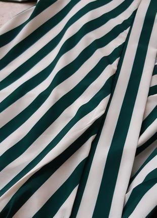 Блуза боди на запах в полоску5 фото