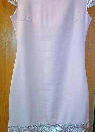 Платье ажурная отделка праздничное пудра кружего2