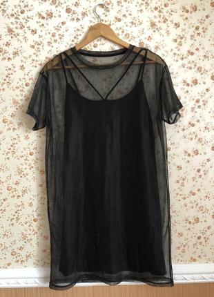 Супер трендовое двойное платье оверсайз4