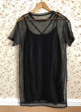 Супер трендовое двойное платье оверсайз