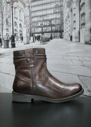 Зимние ботинки из натуральной кожи европейского бренда m&d коричневые, р. 382
