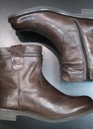 Зимние ботинки из натуральной кожи европейского бренда m&d коричневые, р. 384